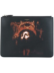 Givenchy Jesus Christ Print Clutch Black