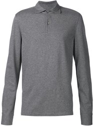 Capobianco Long Sleeve Polo Shirt Grey