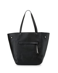 Neiman Marcus Snake Embossed Shopper Tote Bag Black