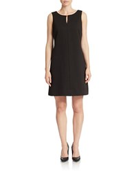 Taylor Keyhole Shift Dress Black