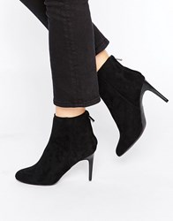 New Look High Ankle Boots Black