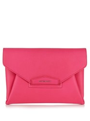 Givenchy Antigona Envelope Grained Leather Clutch Pink