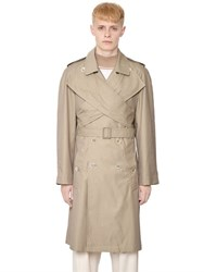 J.W.Anderson Wrap Front Techno And Cotton Trench Coat