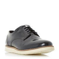 Linea Blantant High Shine Leather Lace Up Shoe Black