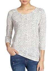 Joie Jeans Riana Snakeskin Print Pullover Charcoal