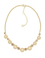 Marchesa Pearl Foldover Necklace Gold