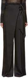 Maiyet Black Wide Leg Trousers