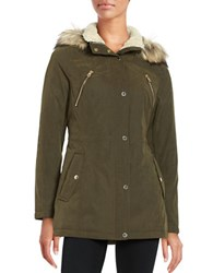 Nautica Faux Fur Hooded Parka Olive