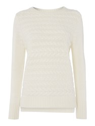 Gray And Willow Cable Knit Jumper Cream