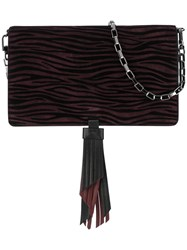 Just Cavalli Animal Print Shoulder Bag Pink Purple