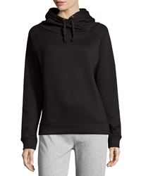 Neiman Marcus Hooded Fleece Sweatshirt Black