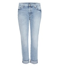 7 For All Mankind Josefina Boyfriend Jeans Blue