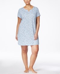 Charter Club Plus Size Short Sleeve Printed Sleepshirt Only At Macy's Spring Sheep