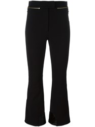 Nina Ricci Zipped Flared Trousers Black