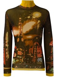 Jean Paul Gaultier Vintage Paris Print Top Multicolour