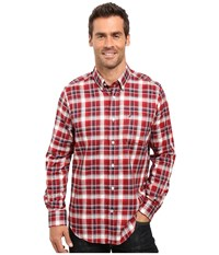 Nautica Long Sleeve Wrinkle Resistant Plaid Shirt Autumn Berry Men's Long Sleeve Button Up Brown