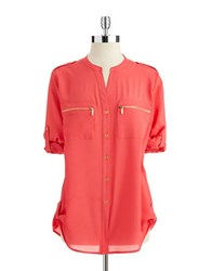 Calvin Klein Zipper Utility Shirt Watermelon