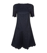 Reiss Mae Lace Drop Waist Dress Female Navy