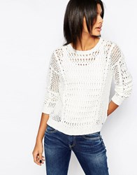 Pepe Jeans Mayca Loose Knit Jumper 808Mousse White