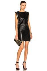 Alexandre Vauthier Leather Mini Dress In Black