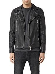 Allsaints Rowley Leather Biker Jacket Black
