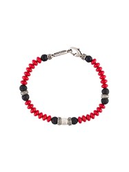 Roman Paul Beaded Bracelet Red