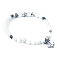 Anchor And Crew White Howlite Starboard Natural Stone Bracelet