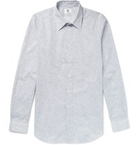 Paul Smith Ps By Slim Fit Printed Cotton Shirt White