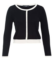 Hallhuber Cardigan With Contrast Panels Black