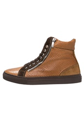Boom Bap Celebration Hightop Trainers Cognac