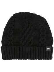 Edwin Cable Knit Beanie Black