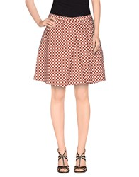 Douuod Skirts Mini Skirts Women Maroon