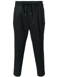 Monkey Time Drawstring Waistband Trousers Black