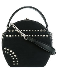 Bertoni 1949 'Bertoncina' Studded Cross Body Bag Black