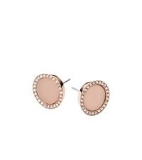 Michael Kors Blush Acetate And Stainless Steel Earrings Rose Gold