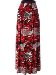 Philipp Plein 'Flying' Skirt Red