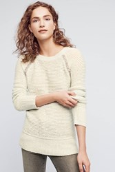 Anthropologie Bejeweled Pullover Blue