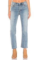 Free People Far From Any Road Cropped Jean Denim Blue