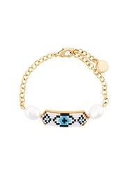 Shourouk 'Moodz' Pearl Eye Bracelet Metallic