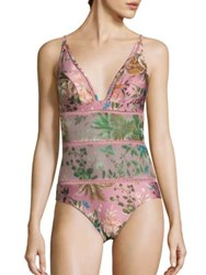 Zimmermann Tropicale One Piece Swimsuit Pink Floral