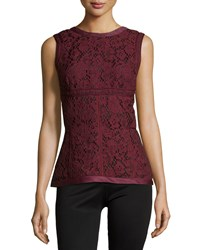 J. Mendel Sleeveless Lace Paneled Top Vin Size 4