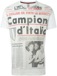 Antonio Marras Newspaper Print T Shirt White