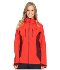 The North Face Dihedral Shell Jacket High Risk Red Deep Garnet Red Women's Coat
