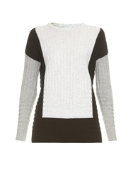 Vince Colour Block Wool And Cashmere Blend Sweater