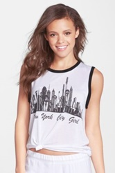 Lauren Moshi 'Zink' Graphic Tank White
