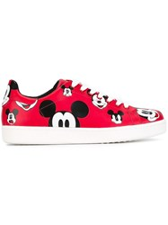 Moa Master Of Arts Mickey Mouse Print Sneakers Red