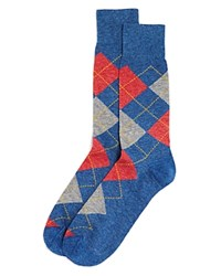 Bloomingdale's The Men's Store At Genova Argyle Socks Denim
