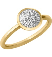 Links Of London Diamond Essentials 18 Carat Yellow Gold Vermeil And Diamond Ring