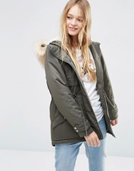 Asos Ultimate Parka Khaki Green