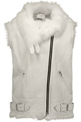 Iro Courtney Shearling Vest Off White